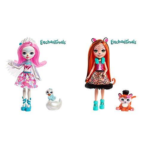 Enchantimals Muñeca con Mascota Saffi Swan (Mattel FRH38) +