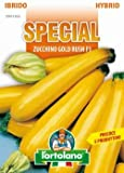 Sementi di ortaggi ibride e selezioni speciali ad uso amatoriale in buste termosaldate (80 varietà) (ZUCCHINO GOLD RUSH F1)