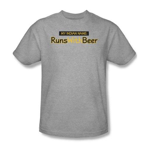 Läufe mit Bier - Männer T-Shirt In Heather, XXX-Large, Heather