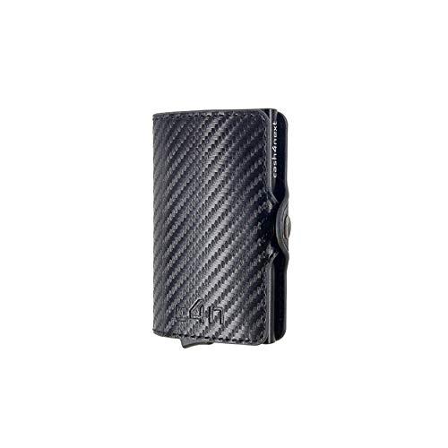 Porta Carte Di Credito Cash4next® Portafoglio Uomo E Donna Porta Documenti Idee Regalo Blocco RFID Anticlonazione Schermato Alluminio Sottile Leggero (carbon)