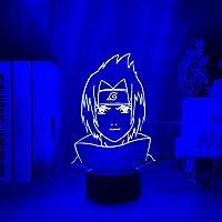 優しい光源、疲れにくい、クリスマス前に驚きうちはサスケアニメうずまきナルト3D照明USB佐々木サスケ
