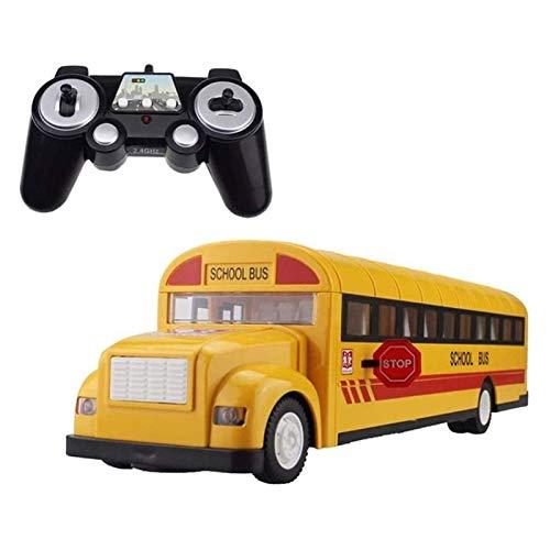 YAMMY RC Autobús Escolar Grande Autobús eléctrico de Control Remoto para niños Camión de Carga de 2,4G con Sonido y luz Apertura de Arranque con una Llave (Coche RC)
