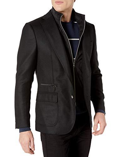 U.S. Polo Assn. Men's Portly Wool Blend Sport Coat, Brown Donegal, 54 Short
