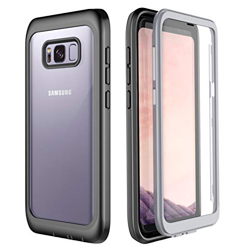 Singdo Samsung Galaxy S8 Plus Case, Built-in Screen Protector Cover 360 Degree Protection Heavy Duty Clear Bumper Case for Samsung Galaxy S8+ Plus (6.2 inch)