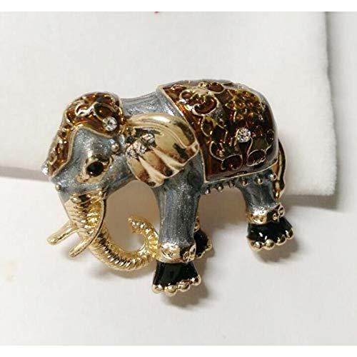 BAJIE Broche Moda Popular Pintura a Mano al óleo Meng Mascota Elefante Dibujos Animados aleación Broche Aguja Ramillete Accesorios