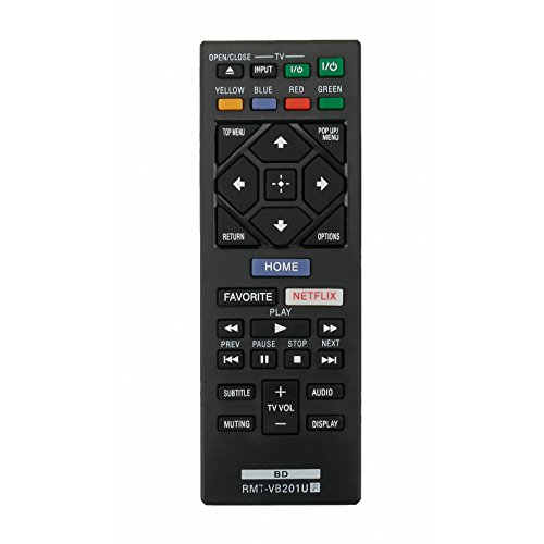 New RMT-VB201U Replace Remote Control fit for Sony Blu-Ray BD Disc DVD Player BDP-BX370 BDP-S1700 BDP-S3700 BDP-S6700 UBP-X700