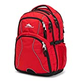 High Sierra Swerve Laptop Backpack, Crimson/Black, 19 x 13 x 7.75-Inch