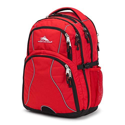 High Sierra Swerve Laptop Backpack, Crimson/Black, One Size