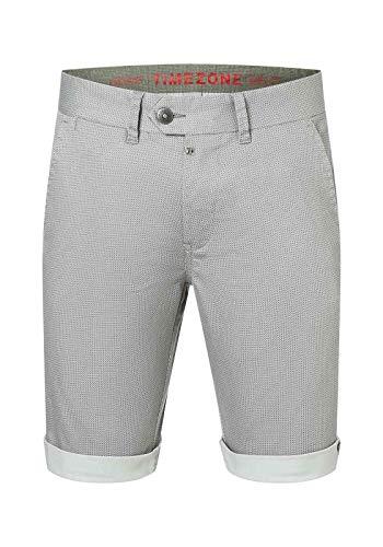 Timezone Herren Slim Jannotz Chino Shorts, Grau (Grey Micro Point 8651), W28(Herstellergröße:28)