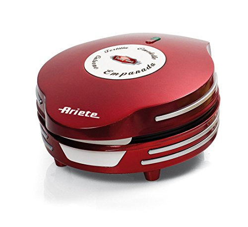 Ariete 182 MÁQUINA DE Empanadas Y Tortillas Party Time, 700 W, Acero Inoxidable, rojo