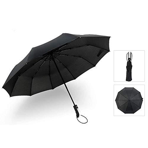 MJY Mode Regenschirm Taschenschirm One-Touch Automatisches Öffnen und Schließen Sonnenschirm Regenschutz Maßnahmen Große Größe 190T Hochfeste 10 Knochen Leicht mit Regen und Regen Aufbewahrungstasche