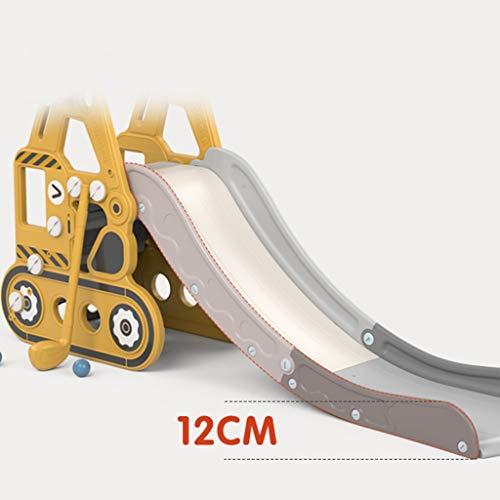 Diapositiva Toboganes para Niños Escaleras para Niños Hogares Interiores Jardines De Infancia Parques Infantiles Pequeños Juguetes Multifuncionales (Color : Yellow, Size : 175 * 36 * 82cm)
