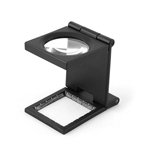 Yosoo 10 x 28 mm-3-Lente d'ingrandimento 10 x pieghevole, in lega zinco-Lente d'ingrandimento con scala per tessili per ottico Jewelry