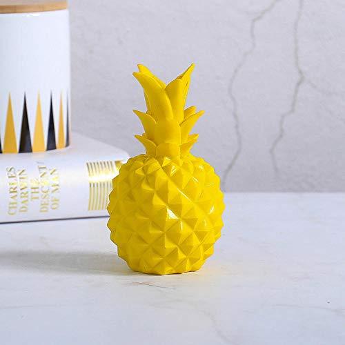 NQBY Escultura Y Accesorios Decorativos Escultura Estatuadecoración De Piña Lisa Decoración del Hogar Decoración De Hucha De Resina