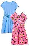 Spotted Zebra Knit Short-Sleeve Cinch-Waist Dresses Vestido, Paquete de 2 bocadillos Skater/Azul, 2 años, Pack de 2