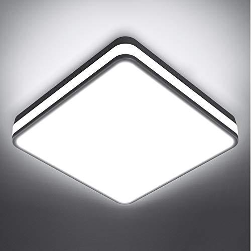 Onforu 24W LED Lámpara de Techo Cuadrada, 2100LM Plafón LED de Techo...