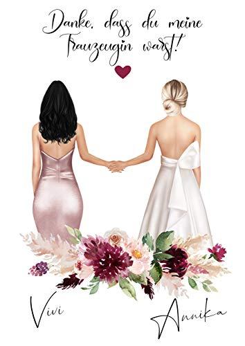 Digitales Produkt | Personalisiertes Bild | Geschenk für Trauzeugin oder Brautjungfer