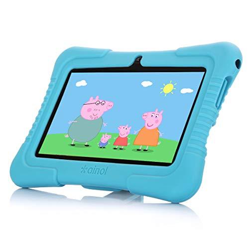 Ainol [Nuevo] Q88a(Tablet para nios con WiFi de 7 Pulgadas,Tablet Infantil de Android 8.1, Regalo para nios,Quad Core 1GB+8GB,Soporta Tarjeta TF 64GBDoble cmara,Juegos educativos) Azul
