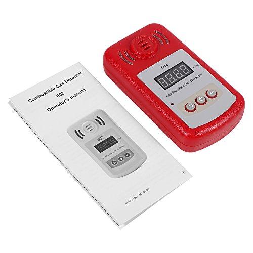 Rilevatore di gas, 1Pc 300-10000PPM Rilevatore di perdite di gas metano combustibile naturale con allarme sonoro e luce flash per cucina domestica, bagno
