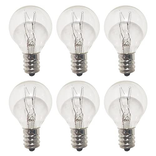 G30 Wax Warmer Bulbs, 20 Watt Bulbs for Middle Size Scentsy Light Bulbs, Heat Bulb, G30 Globe Candle Wax Warmer, E12 Incandescent Candelabra Base, Clear Light Bulbs, Long Last Lifespan (6 Pack)