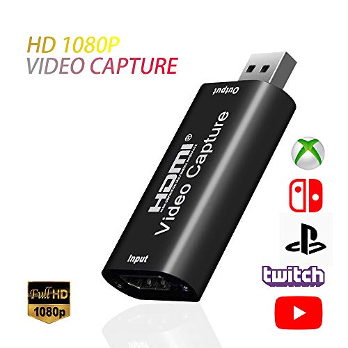 Idealforce Video-Aufnahmegarte, HDMI zu USB Capture Card USB 2.0 1080P HD Recorder Game / Video / Live / Facebook Streaming