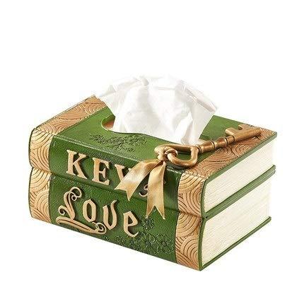 U/D Inicio Papel Papel Prensa dispensador de Tejido húmedo Caja de Almacenamiento de Coche Portable de la Manera de Tejidos Cubierta Caja de la servilleta (Color : Verde, Size : 1)