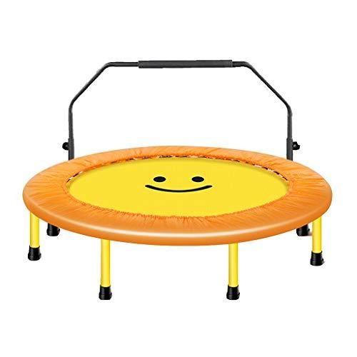 Trampolines de interior Para Niños Trampolín Casero Fitness Cama para Bebé Trampolín De Pérdida De Peso Familiar Trampolín Plegable Plegable Trampolín Mudo (Color : Yellow, Size : 127 * 127 * 110cm)