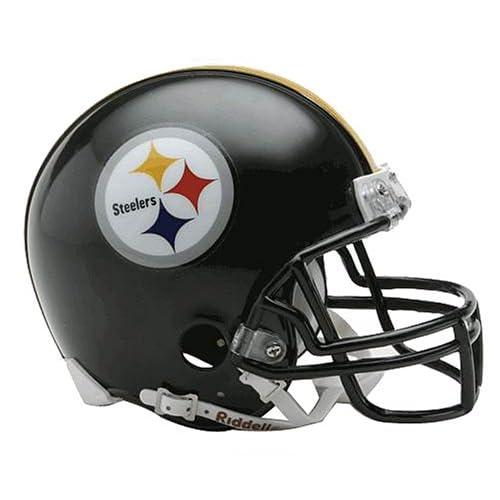 the latest 48ed9 ae4a5 Steelers Helmet: Amazon.com