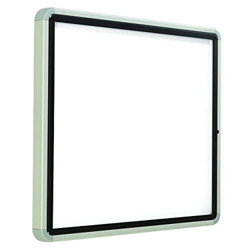"""Quartet Enclosed Whiteboard/Dry Erase Board, Magnetic, 30"""" x 27"""", 6 Sheets, Outdoor, 1 Swing Door, Aluminum Frame (EEHM2730)"""