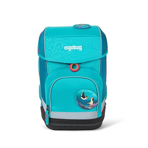 Ergobag cubo Hula HoopBär, ergonomischer Schulrucksack, Set 5-teilig, 19 Liter, 1.100 g, Türkis