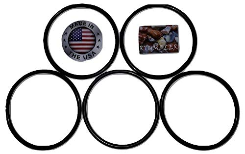 RTumbler Brand Rock Tumbler Replacement Drive Belt 5 Pack Compatible With Thumler's Tumbler A-R1, A-R2, A-R6, A-R12, Model B Brand Tumblers
