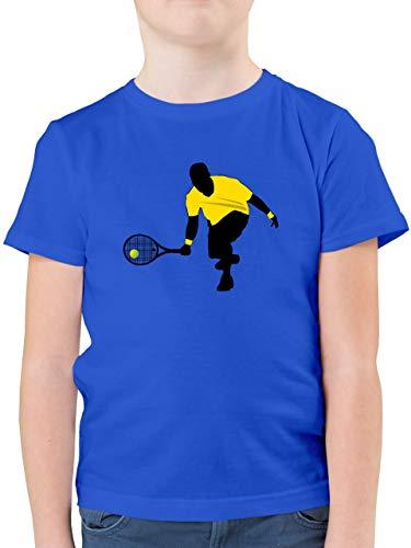 Sport Kind - Tennis Squash Kniend - 140 (9/11 Jahre) - Royalblau - Squash - F130K - Kinder Tshirts und T-Shirt für Jungen