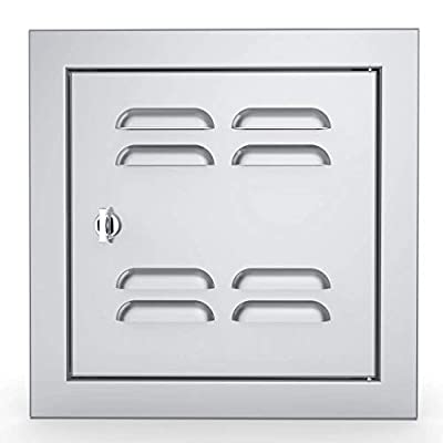 SUNSTONE BA-VSDR12 Signature Series Beveled Frame Access, Grill, Outdoor Cooking Doors, Stainless stel