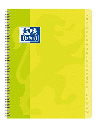 Oxford 100102669- Agenda directorio con espiral, 17 x 22 cm, 100 páginas, cuadrícula pequeña de 5 x 5 mm, colores surtidos ⭐