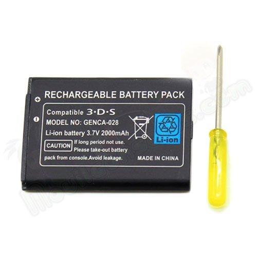 Batteria di Ricambio + cacciavite per Nintendo 3DS 1300mAh