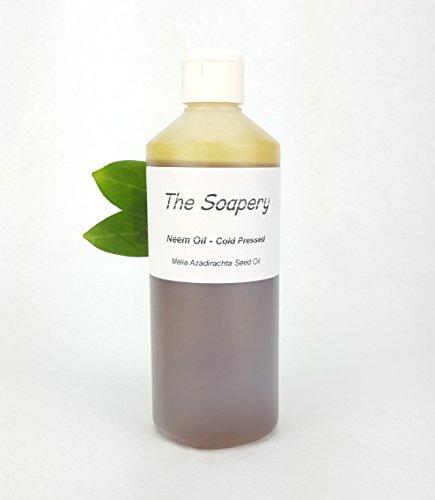 Aceite de neem 500 ml, prensado en frío, virgen, sin refinar, 100% natural