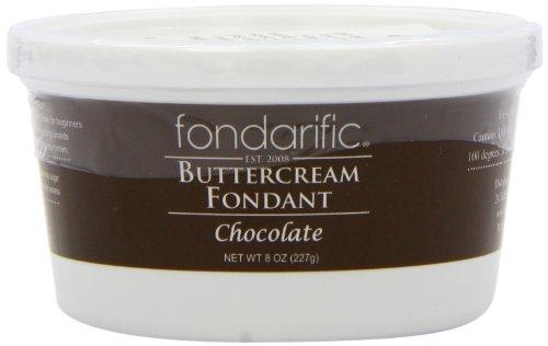Fondarific Buttercream Fondant, Chocolate, 8 Ounce