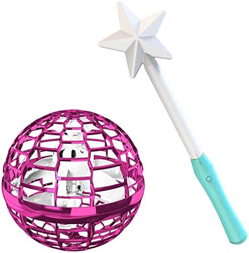 Spinning Tops Spinner con trucos infinitos Glow Flying Toys Hand Operado Drones Regalo Niños Adultos Rosa