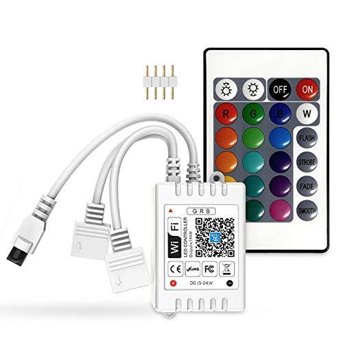 10M/5M RGB Led Streifen Kontroller mit 2 Steckdosen, kompatibel mit Alexa und Google Home, drahtlose Fernbedienung/Timer von Smartphone Für alle RGB led strip