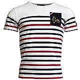 Religion Rugby - T-Shirt Marinière Tricolore - Blanc - 4XL