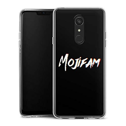 DeinDesign Silikon Hülle kompatibel mit LG G7 Fit Hülle transparent Handyhülle Totenkopf Moji YouTube