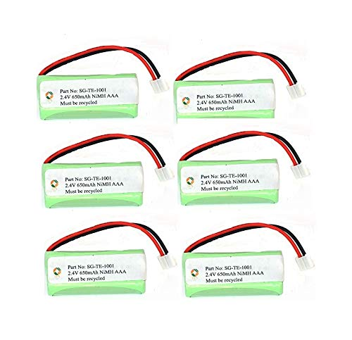 SPS Brand 2.4V 650mAh Replacement Battery for VTech EMBARQ eGO (6 Pack)