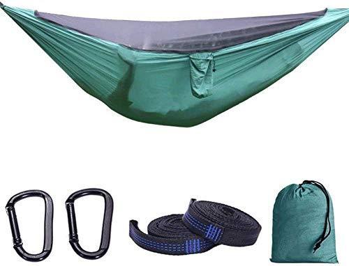 Dubbele kampeerhangmat, hangmat met klamboe, ultralicht draagbaar verwijderbaar net voor outdoor rugzakreizen 280 * 140cm