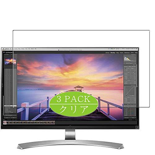 3枚 VacFun フィルム , LG 27UD88 27インチ モニター ディスプレイ 向けの 保護フィルム 液晶保護 フィルム 保護フィルム(非 ガラスフィルム 強化ガラス ガラス ケース カバー ) ニューバージョン