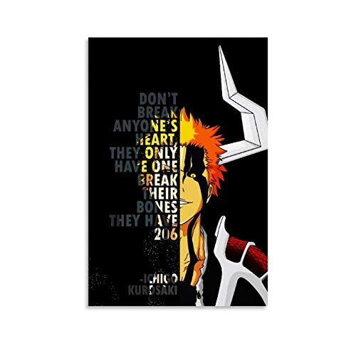 Bleach Anime Inspirational Quotes Canvas Art Poster