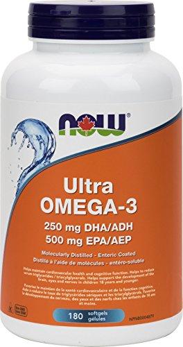 NOW Ultra Omega-3 1000mg (500EPA / 250DHA) 180 Softgels