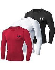 MEETYOO Maglietta Compressione Uomo, Maglie Maniche Lunghe T Shirt Sportiva per Corsa Ciclismo Fitness