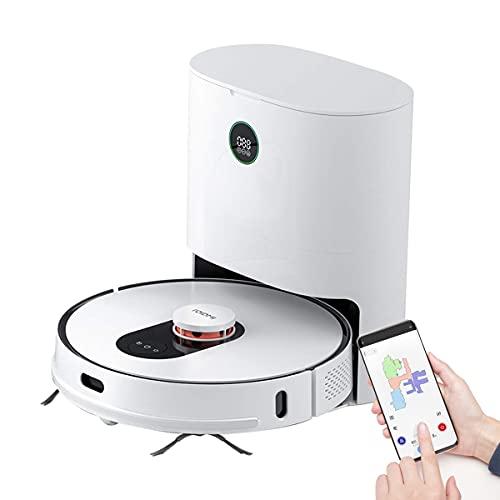 ROIDMI Eve Plus Robot Aspirador con Función de Limpieza, Navegación Láser Robot Aspirador con Estación de Aspiración Automática, Duración de la Batería de 250 Minutos