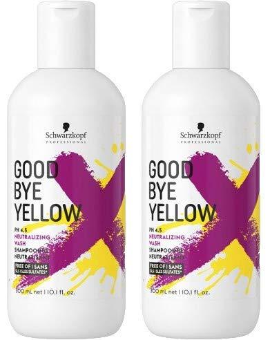 Schwarzkopf Professional - Duo Pack Shampooing Good Bye Yellow Le Premier Shampooing Dejaunissant à Forte Concentration De Pigment 2 X 300 ml