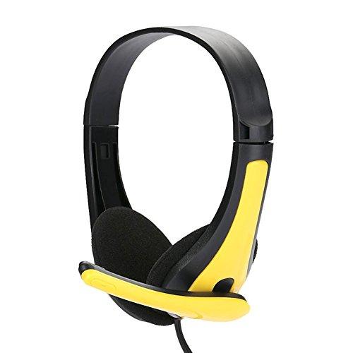 Oobest hoofdtelefoon, bekabeld, draagbaar, opvouwbaar, voor pc/Mac/iPad/MP3-speler, smartphone/computer Geel.